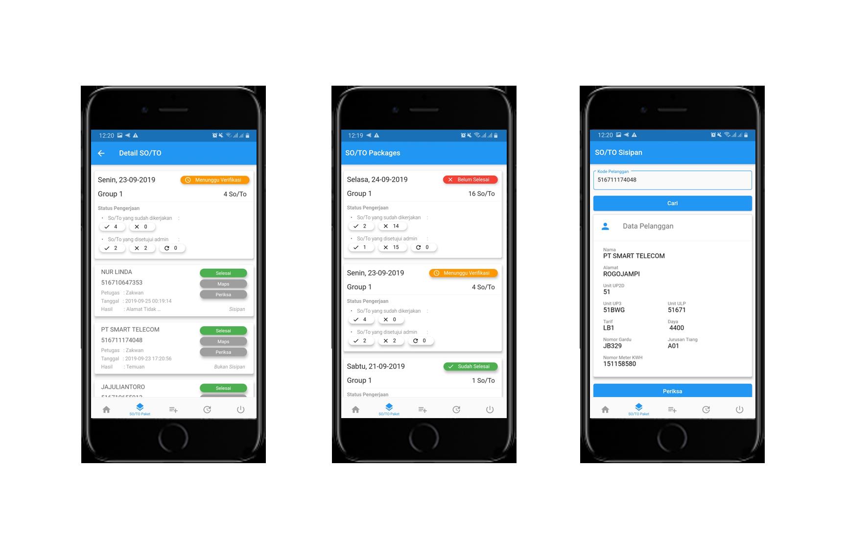 Pentol App (Aplikasi Penertiban Tenaga Listrik Online) Versi 2